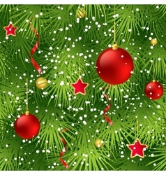 Christmas tree fir branch seamless background vector