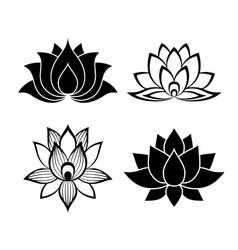 Lotus flower signs set vector image