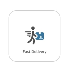 Fast delivery icon flat design vector