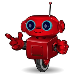 The red robot on the wheel vector