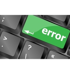 Error keyboard keys button close-up internet vector