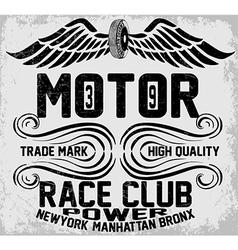 Newyork manhattan bronx motorcycle typography t-sh vector