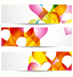 Abstract colorful banners vector image