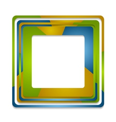 Abstract squares logo background vector