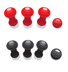 big pushpins set of isolated vector image vector image
