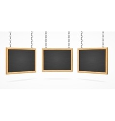 Black Board Sign Set vector image vector image