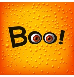 Boo text with monster eyes vector