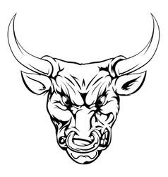 bull mascot character vector image vector image