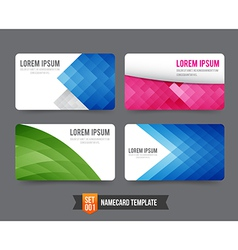 Business card template set 001 vector