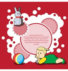 Card for kids congratulations vector image