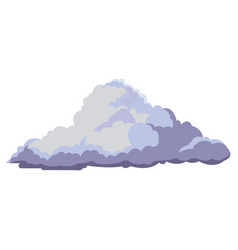cloud floats cool single weather icon vector image