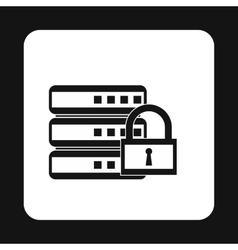 Data retention protection icon simple style vector