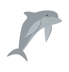 dolphin ocean fish friendly cute vector image