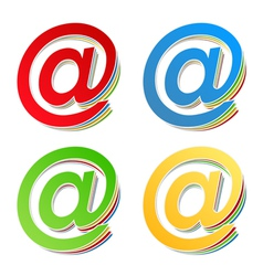 Email Symbols vector image vector image