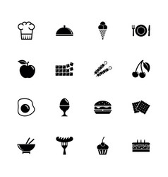 food - flat icons vector image vector image