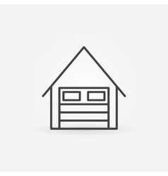 Garage linear icon vector