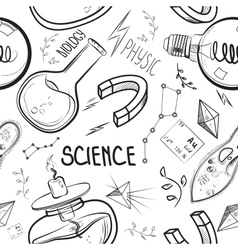 Hand drawn science set vector image vector image