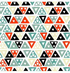 Handdrawn tribal geometric pattern vector