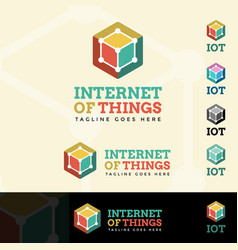 Internet of things logotype vector