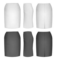 Ladies skirt for business women vector image