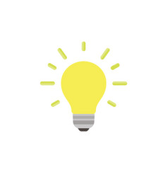 light bulb icon isolated idea design art business vector image