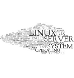 Linux word cloud concept vector