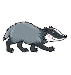 Little funny badger children vector
