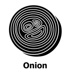 Onion icon simple black style vector