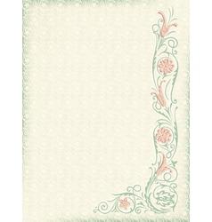 Ornamental floral wedding background vector image