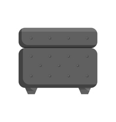 Padded stool icon black monochrome style vector