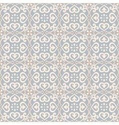 Seamless pattern azulejo light blue vector
