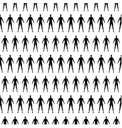 seamless pattern with human silhouette vector image vector image