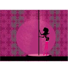Sexy female pole dancing vector