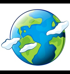 The planet earth vector