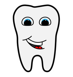 tooth is smiling for medicine vector image vector image