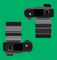 top view of digital camera vector image