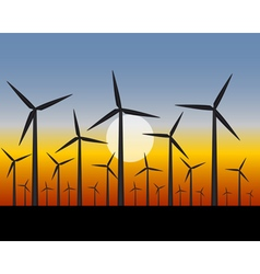 wind farms generators for electricity vector image vector image