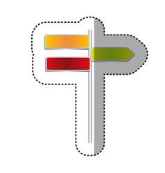 Color differents notices of tipped routes icon vector