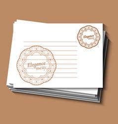 restaurant or cafe menu card for waiter vintage vector image