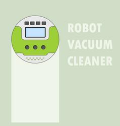 Vacuum cleaner robot vector
