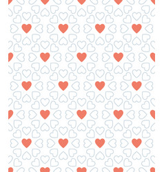 blue dot and red heart valentine day pattern vector image