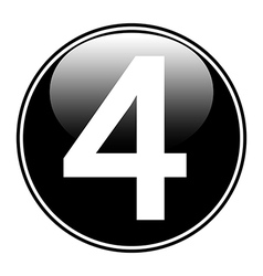 Number four button vector image