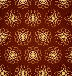Classic gold flower pattern on blown color vector