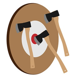 Throwing axe target vector