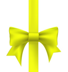 Yellow ribbon with a bow vector