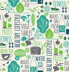 Healthy lifestyle seamless background vector