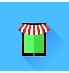 Mobile store icon vector