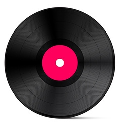 Vinyl record isolated on white background vector