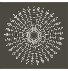 Geometric hipster circle 617547161 vector