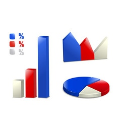 Pie bar graph icon vector